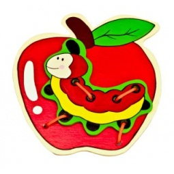 фото Игрушка развивающая Mapacha «Шнуровка. Яблоко»