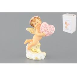 Купить Фигурка декоративная Elan Gallery Ангелочек с сердечком из цветов