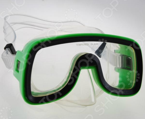 Маска плавательная WAVE M-1319Маски и трубки для плавания<br>Маска WAVE M-1319 предназначена для плавания и ныряния как в бассейне, так и в море. Представленная модель имеет классический дизайн и широкий угол обзора, что максимально увеличивает периферическое зрение. Монолинза изготовлена из закаленного стекла. Двухслойный обтюратор препятствует проникновению воды и выполнен из гипоалергенного пластика. Благодаря тому, что ремешок регулируется, маску можно подогнать под необходимый размер.<br>