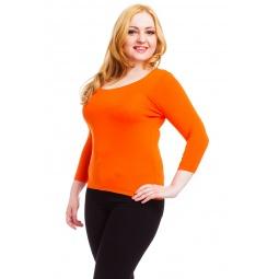 фото Кофта Mondigo XL 023. Цвет: оранжевый. Размер одежды: 52