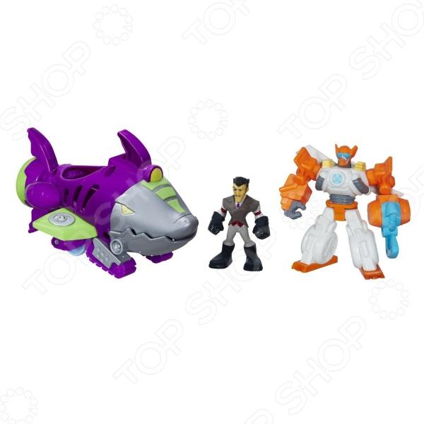 Игровой набор фигурок Hasbro Rescue Bots «Подводная лодка»Игровые наборы с персонажами мультфильмов, сказок и комиксов<br>Игровой набор фигурок Hasbro Rescue Bots Подводная лодка это отличный подарок для вашего малыша. Внутри яркой упаковки можно найти двух героев мультсериала Трансформеры: Боты-спасатели и подводную лодку в виде акулы. Если нажать на спинной плавник, то у акулы-субмарины откроется устрашающая зубастая пасть. Доктор Морокко, робот-спасатель Блейдс и подлодка выполнены из качественных материалов и обладают потрясающей детализацией, что сделает игровой процесс еще более захватывающим. Игровой набор фигурок Hasbro Rescue Bots Подводная лодка способствует развитию зрительной координации, воображения, а также мелкой моторики рук ребенка. Кроме того, тренируется наблюдательность, образное восприятие и логическое мышление.<br>