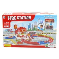 фото Набор игровой для мальчика Shantou Gepai «Пожарная станция с дорогой»