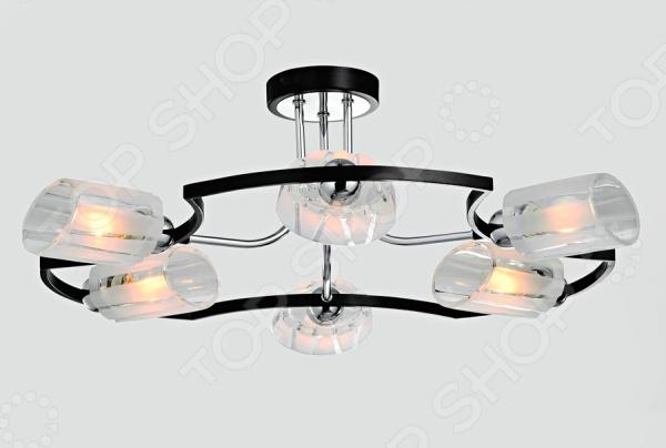 Светильник потолочный Rivoli Macaone-C-6xE14-40WСветильники потолочные<br>Светильник потолочный Rivoli Macaone-C-6xE14-40W это светильник, способный служить как дополнительным, так и основным источником света в небольшой комнате . Потолочный светильник подходит для комнаты с низким потолком, поскольку занимает совсем немного места. Дизайн светильника это важный акцент интерьера. Вместе с бра или подсветкой он создает интересный световой ансамбль, преображающий комнату.<br>