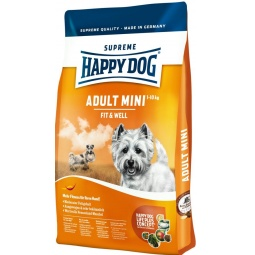 фото Корм сухой для собак мелких пород Happy Dog Adult Mini Fit & Well. Вес упаковки: 1 кг