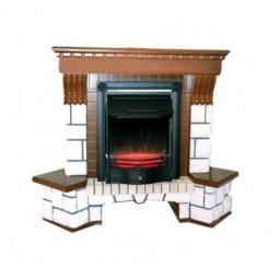 фото Портал каминный Dimplex Pierre Luxe под классику, угловой. Цвет: коричневый, белый