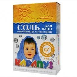 Купить Соль для ванн антибактериальная с ионами Карапуз Украина 500 г