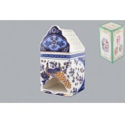 Купить Банка для чайных пакетиков Elan Gallery «Павлин синий»