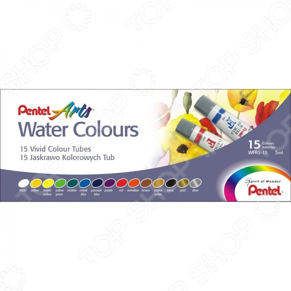ФОТО pentel pentel water colours: 15 цветов