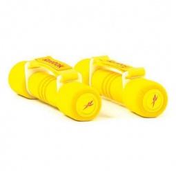 фото Гантель с мягкими накладками Reebok. Вес в кг: 1 кг. Цвет: желтый