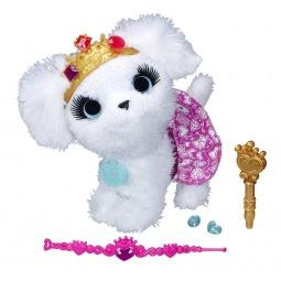 фото Мягкая игрушка интерактивная Hasbro A9935 «Модные зверята. Белый щенок»