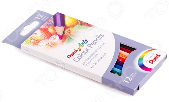 Набор карандашей цветных Pentel Colour pencils: 12 цветов