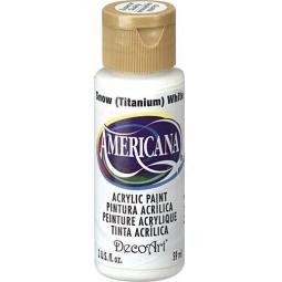фото Краска акриловая DecoArt Премиум Americana. Цвет: белоснежный