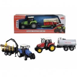 фото Машинка игрушечная Dickie «Трактор с прицепом». В ассортименте