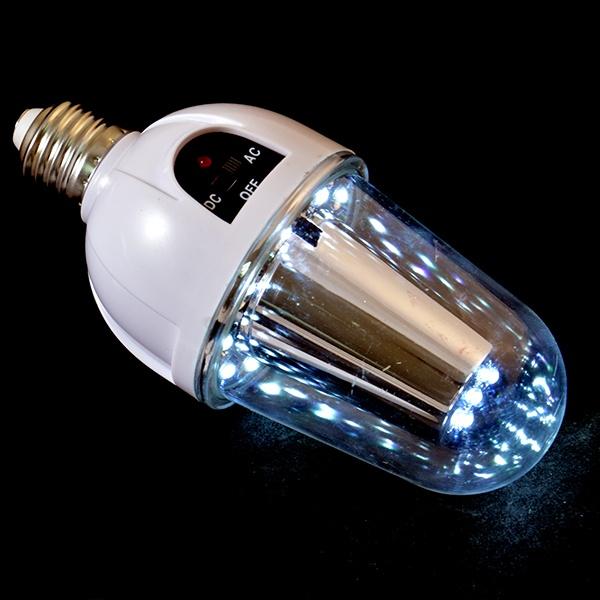 Неожиданное отключение электричества не оставит вас без света, когда под рукой есть чудо-лампа Irit IRNP-20. Эта чудо-лампочка оснащена аккумулятором, позволяющим работать устройству автономно. Однако она может работать и в обычном режиме питания, достаточно воспользоваться переключателем на корпусе.  Яркое освещение обеспечивают 15 светодиодов.  При полном заряде лампочку можно использовать в качестве фонарика. При этом не стоит бояться обжечься, ведь корпус практически не нагревается.  В комплекте пульт дистанционного управления. Теперь не обязательно вставать с кресла и тянуться рукой до выключателя. Все просто и удобно!  Время автономной работы 1 час, процесс зарядки занимает около 8 часов.  В комплекте 2 лампочки.
