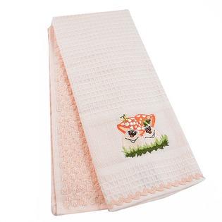 Купить Комплект из 2-х махровых вафельных полотенец BONITA «Грибы»