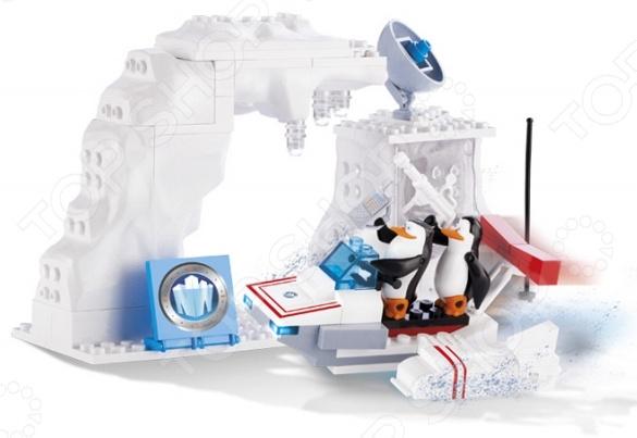 Конструктор игровой Cobi «Секретная база пингвинов на Северном полюсе»Игровые конструкторы<br>Конструктор игровой Cobi Секретная база пингвинов на Северном полюсе прекрасный подарок для юного конструктора. Комплект содержит детали, с помощью которых можно собрать базу для спасения животных. В комплекте 2 фигурки Шкипер и Рядовой. Сборка не только развлекает, но и помогает развивать моторику рук, логическое мышление и воображение ребенка. Все детали выполнены из нетоксичных материалов, поэтому полностью безопасны. Преимущества:  Множество оригинально выполненных элементов.  Увлекательный процесс сборки.  Качественный материал.<br>