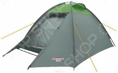 Палатка Campack Tent Rock Explorer 3Палатки<br>Палатка Campack Tent Rock Explorer 3 удобная и уютная модель с надежной конструкцией, рассчитана на двух человек. Имеет довольно большое спальное отделение. Оснащена каркасом из стеклопластика. Материал тента гарантирует герметичность и надежность в любой ситуации. Высокопрочное дно изготовлено из армированного полиэтилена, не пропускает влагу и устойчиво к истиранию. Внешний каркас позволяет быстро установить палатку в сложных погодных условиях. Внутри палатки имеется подвеска для фонаря и карманы для хранения мелочей. Проклеенные швы гарантируют герметичность и надежность в любой ситуации.  Ткань тента:190T P. Taffeta PU 3000 мм.  Ткань палатки:170T P. Taffeta MESH.  Ткань дна:Tarpauling.<br>