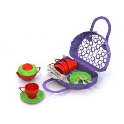 фото Игровой набор для девочки Нордпласт «Волшебная хозяюшка. Посуда» 06505