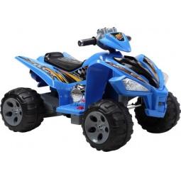 фото Квадроцикл детский электрический Пламенный Мотор 86082. Цвет: синий