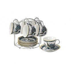 фото Чайный набор на подставке Grazie «Павлин»