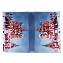 фото Обложка для паспорта двухсторонняя Mitya Veselkov «Храм Василия Блаженного»