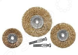 Набор щеток для дрели MATRIX 74492Насадки для шлифования, полировки, чистки<br>Набор щеток для дрели MATRIX 74492 для очистки металлических поверхностей от ржавчины и грязи в щадящем режиме. Инструмент, без которого трудно обойтись при выполнении всевозможных работа с мелкими деталями. Щетки 2 плоские 50, 75 мм и 3 чашки 25, 50, 75 мм. Позволяют выполнять любую, даже самую щепетильную работу максимально быстро и качественно. Латунное покрытие.<br>