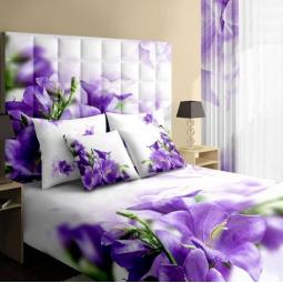 фото Комплект постельного белья Buenas Noches Kolokolchiki. Satin Fotoprint. 2-спальный