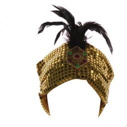 Купить Шапка восточная Шампания с перьями и пайетками. В ассортименте