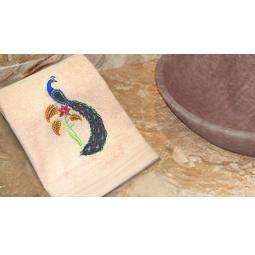фото Полотенце подарочное с вышивкой TAC Firebird. Цвет: персиковый