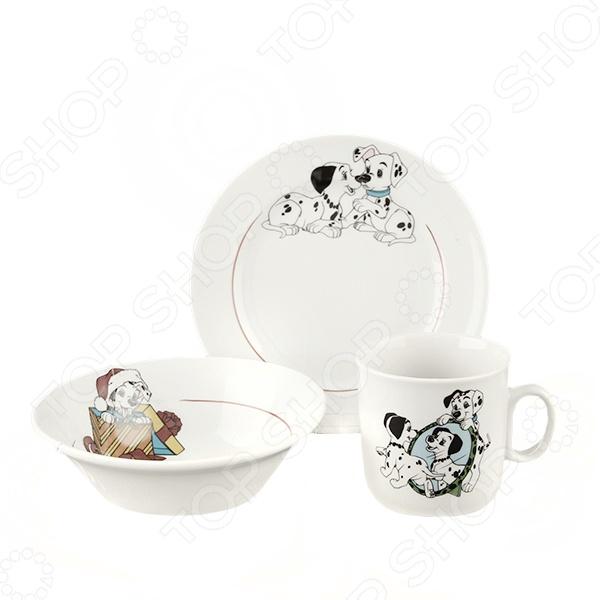 Набор посуды Коралл 4С0497/1Ф34 «Далматинцы» набор бокалов для бренди коралл 40600 q8105 400 анжела