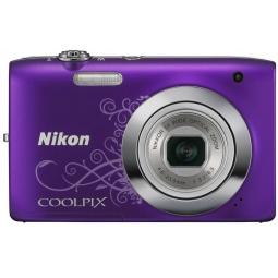 фото Фотокамера цифровая Nikon CoolPix S2600. Цвет: фиолетовый. Рисунок: есть