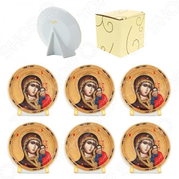 Набор декоративных тарелок Elan Gallery «Казанская Божья Матерь» круглый