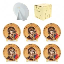 Купить Набор круглых декоративных тарелок Elan Gallery «Казанская Божья Матерь»