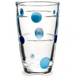 фото Набор стаканов Loraine Spots. Рисунок: синий горох