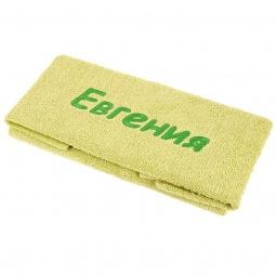 фото Полотенце подарочное с вышивкой TAC Евгения. Цвет: зеленый
