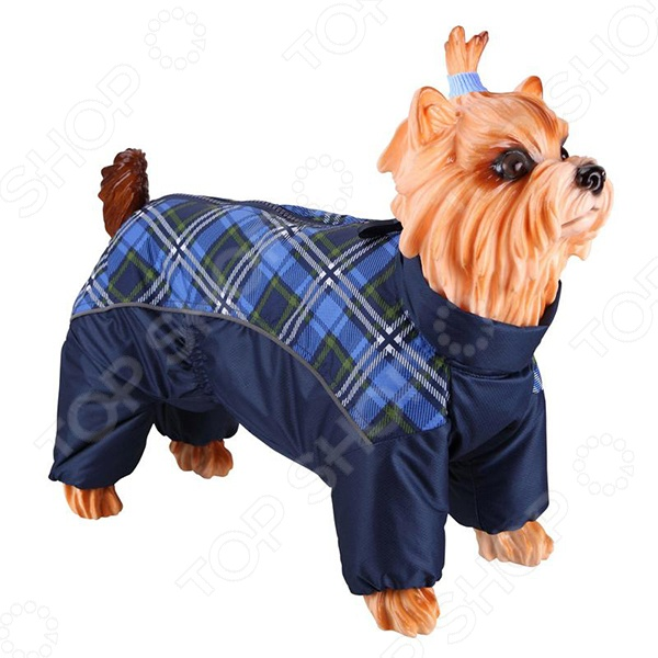 Комбинезон-дождевик для собак DEZZIE «Вест-хайленд-уайт-терьер». Цвет: синий