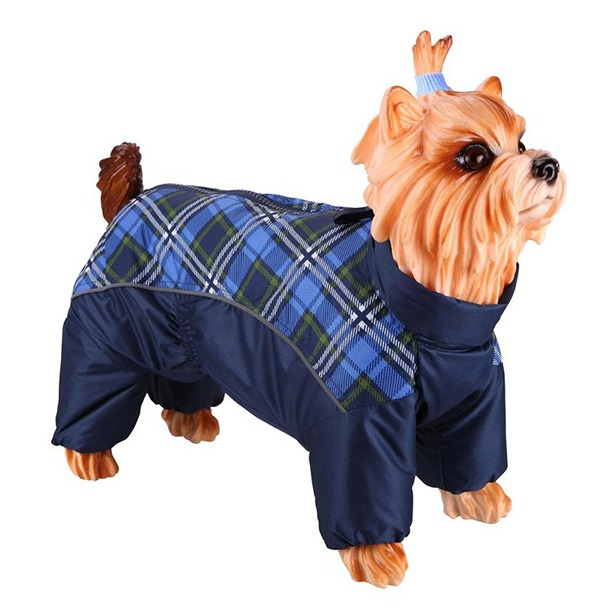 фото Комбинезон-дождевик для собак DEZZIE «Вест-хайленд-уайт-терьер». Цвет: синий. Материал подкладки: нет