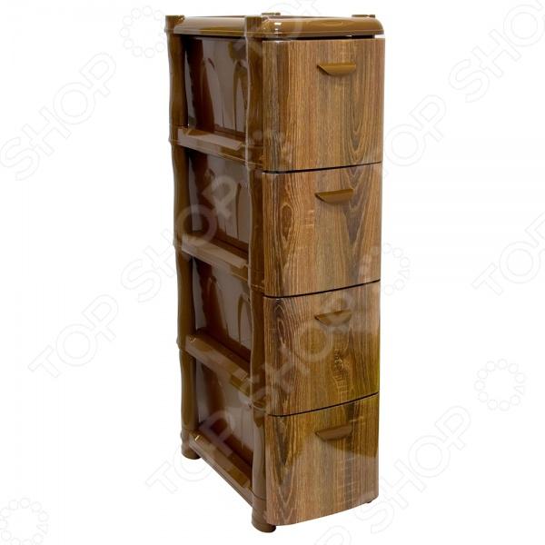 Комод 4-х секционный узкий IDEA «Альт Деко. Дерево» Idea - артикул: 592478