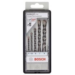 Купить Набор сверл по бетону Bosch Robust Line Silver Percussion 2607010526