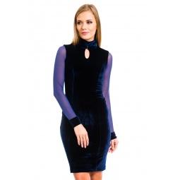 фото Платье Mondigo 7019. Цвет: темно-синий. Размер одежды: 48