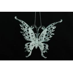 фото Елочное украшение Crystal Deco «Бабочка». Цвет: белый