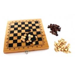 фото Игра настольная 3 в 1: шашки, шахматы, нарды Shantou Gepai 622115