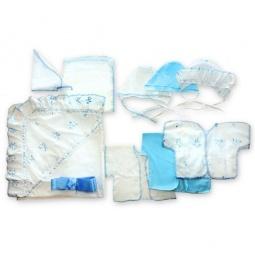 Купить Комплект на выписку подарочный АРГО: 10 предметов. Цвет: голубой