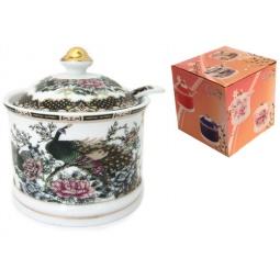 Купить Сахарница с ложкой Elan Gallery «Павлин на золоте» 471309