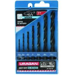 Купить Набор сверл по металлу URAGAN Bagira 901-11431-H7-R