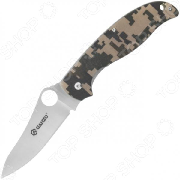 Нож Ganzo G734Туристические и складные ножи<br>Ganzo G734 это современный, удобный и невероятно надежный туристический нож. Модель предназначена для людей, которые ведут активный образ жизни. Поездка на рыбалку, выезд в лес на пикник или пешие походы в горы любое из этих мероприятий требует тщательной подготовки. Одним из самых необходимых аксессуаров для любителей экстремального отдыха является нож, ведь с его помощью можно выполнить множество разнообразных задач. Лезвие ножа Ganzo G734 выполнено из высококачественной нержавеющей стали марки 440C 58 HRC . Оно долго остается острым, а при необходимости, процедуру затачивания можно провести даже в полевых условиях. Для того, чтобы предотвратить коррозию, достаточно протереть насухо клинок после использования ножа. Эргономичная рельефная рукоять удобно ложится в ладонь, чтобы рука не уставала от долгой работы. Выполнена из стеклопластика G10, поэтому проста в уходе и очень надежна. На ней расположена клипса для ношения на ремне и отверстие для крепления темляка. Клинок фиксируется замком типа Liner Lock.<br>