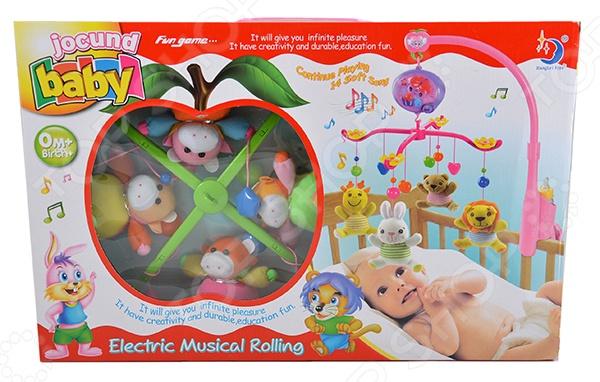 Карусель музыкальная на кроватку с мягкими игрушками 1707173
