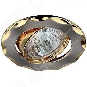 Светильник встраиваемый поворотный Эра KL12A SN/G