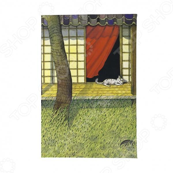 Обложка для автодокументов Mitya Veselkov «Белый кот на окне»