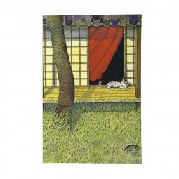 Купить Обложка для автодокументов Mitya Veselkov «Белый кот на окне»